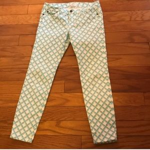 Vineyard Vines Green/White Cropped Jeans